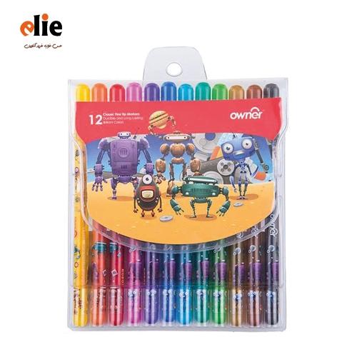 مداد شمعی اونر 12 رنگ