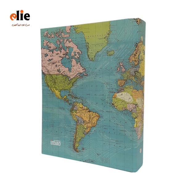 دفتر کلاسور طرح نقشه جهان