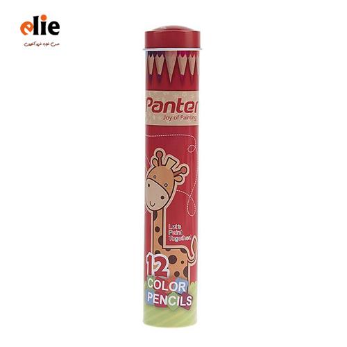 مداد رنگی 12رنگ پنتر جعبه استوانهای