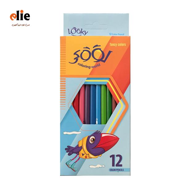 مداد رنگی 12 رنگ لوکی جعبه مقوایی