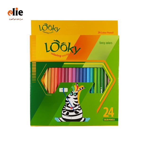 مداد رنگی 24 رنگ لوکی جعبه مقوایی