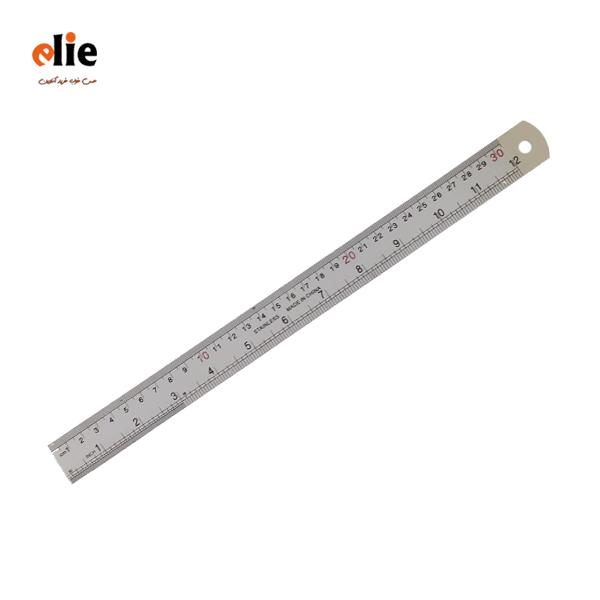 خط کش فلزی 30 سانتی متر
