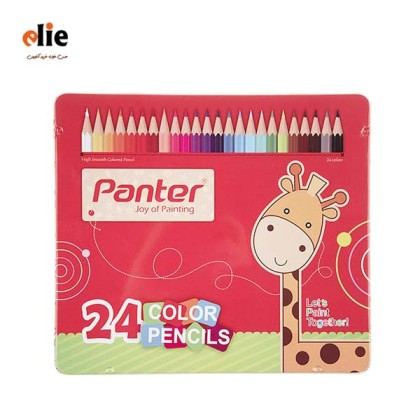 مداد رنگی 24 رنگ پنتر جعبه فلزی
