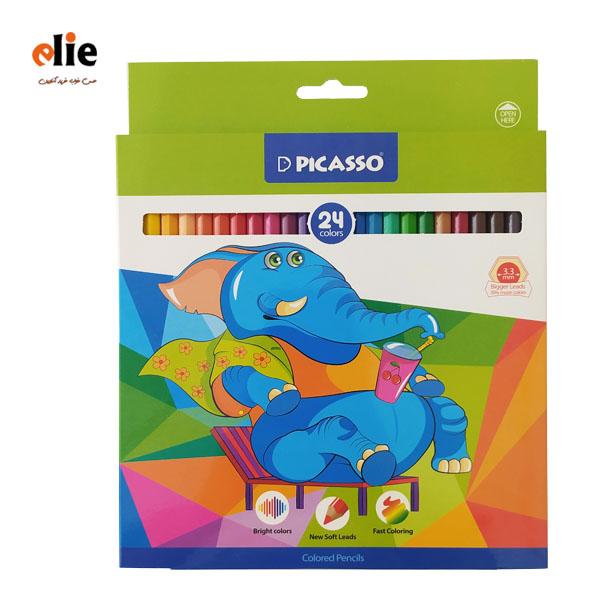مداد رنگی پیکاسو 24 رنگ مقوایی
