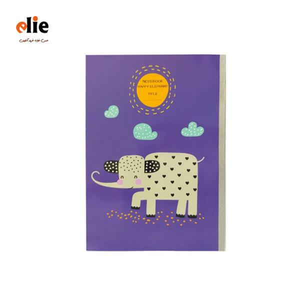 دفتر 40 برگ پاپکو طرح فیل شاد