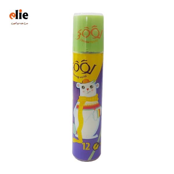 مداد رنگی 12 رنگ استوانه لوکی