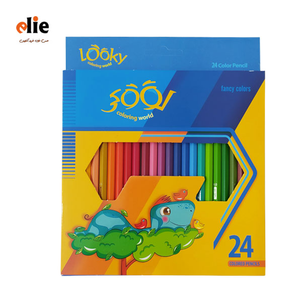 مداد رنگی 24 رنگ لوکی جعبه مقوایی طرح 3