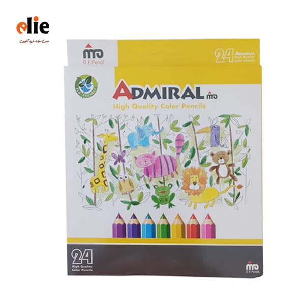 مداد رنگی 24 رنگ ادمیرال